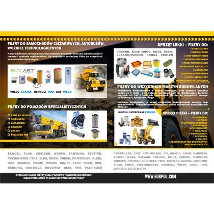 Filtry do maszyn budowlanych i pojazdów